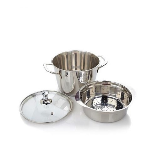 Infusion Collection 8-piece Stainless Triple Burner Buffet Set