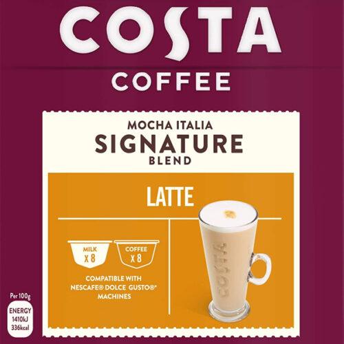 Costa Coffee Mocha Italia Signature Blend Latte Capsules