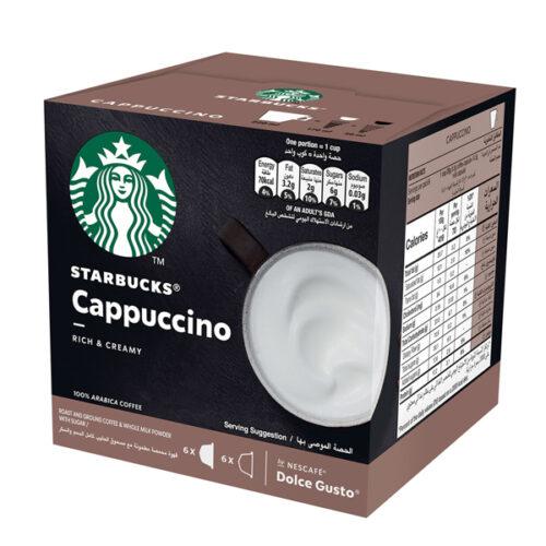 Starbucks Cappuccino by Nescafe Dolce Gusto Coffee Capsules