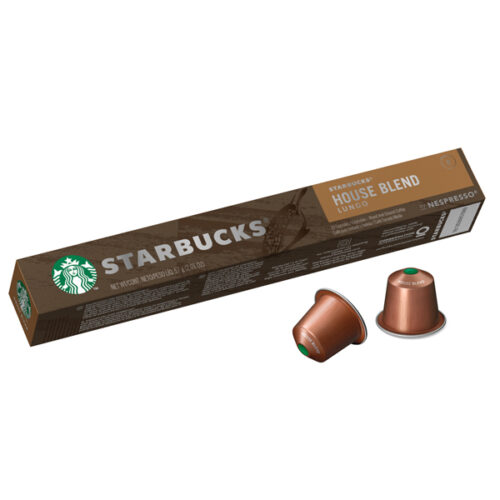 Starbucks House Blend Lungo Coffee Capsules By Nespresso