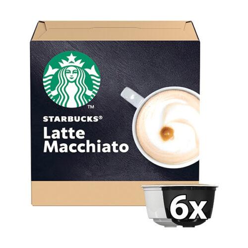 Starbucks Latte Macchiato Coffee Capsules by Nescafe Dolce Gusto