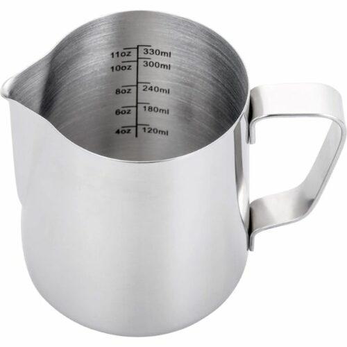 Steaming Pitcher for Espresso 12 oz,Espresso Milk Foaming Pitcher 12 oz,Coffee Drain Foaming Cup,Coffee Steaming Pitcher 12 oz/350 ml