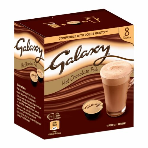 Galaxy Hot Chocolate – Dolce Gusto Compatible Pods – 8 Pods