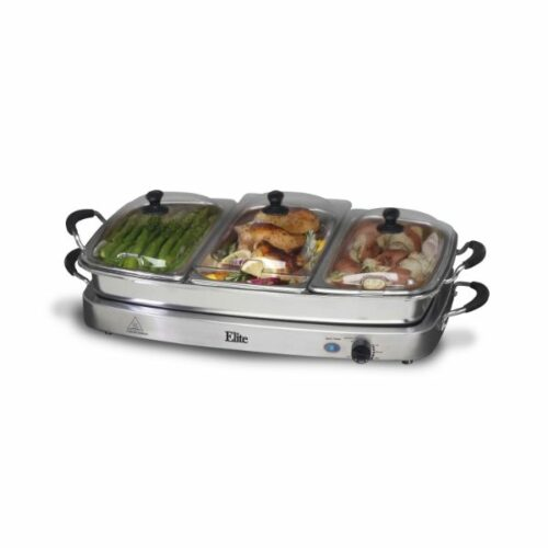 Buffet Server Elite Platinum Triple Deluxe – EWM-9933 by Maxi Matic