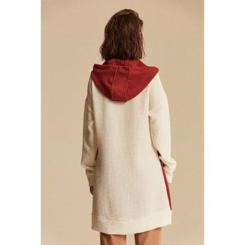 Women's Hooded Block Tunic