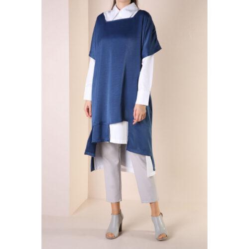 Women's blue tunic 2 Pieces