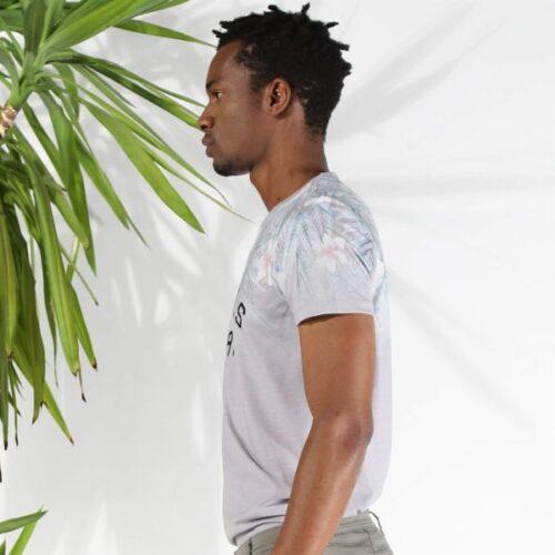 Men's Patterned Grey T-shirt