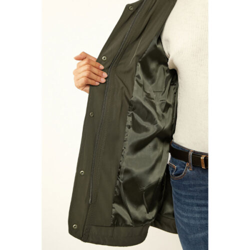Women's Shirred Waist Pocket Trench coat