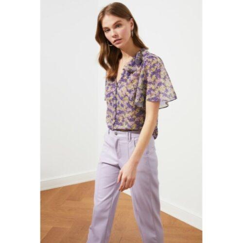 Women's Ruffle Lilac Shirt