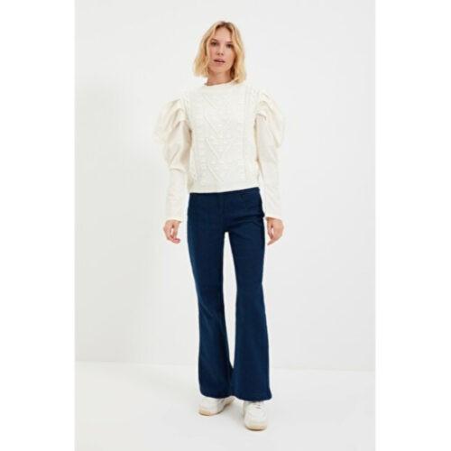 Women's Ecru Tricot Sweater