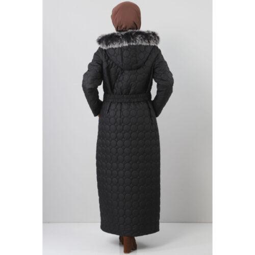 Women's Oversize Black Quilted Coat
