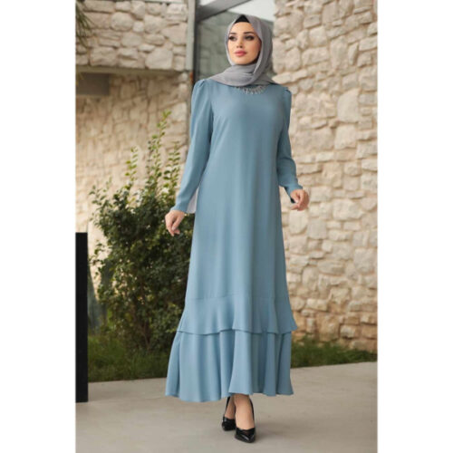 Women's Necklace Accessory Blue Modest Evening Dress