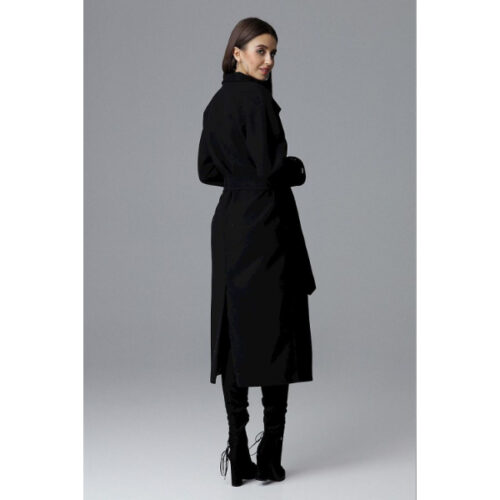 Women's High Collar Belted Coat