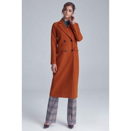Nife Brown Coat for Women