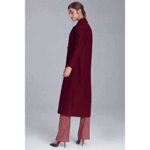 Women's Double Press Red Coat